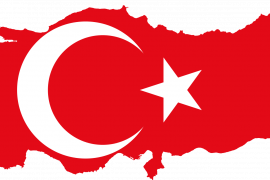 Flag-map of Turkey; Accessed via Wikimedia Commons