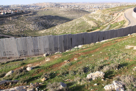 Israeli West Bank Barrier near Ramallah; Accessed via Wikimedia Commons