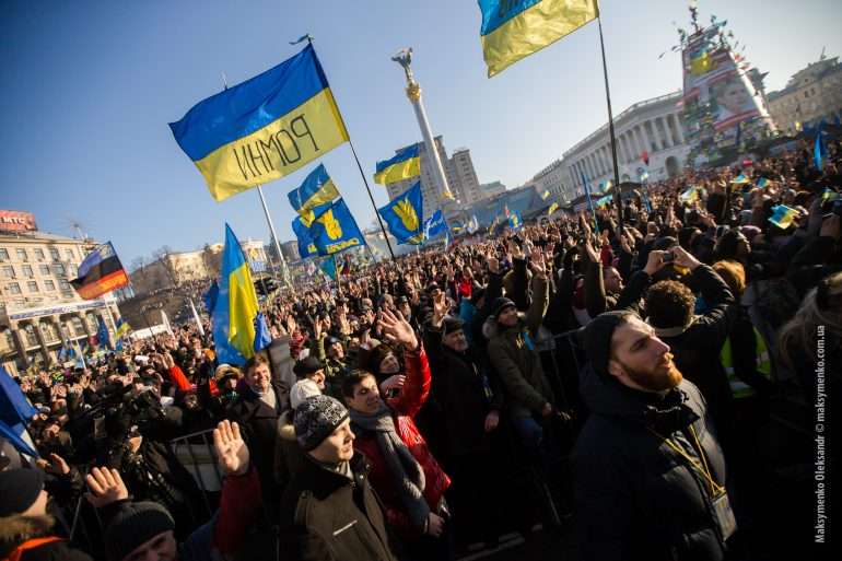 Anti-government protests in Kyiv; accessed via Wikimedia Commons