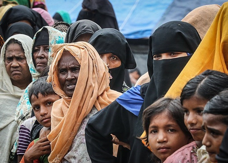 Displaced Rohingya Muslims; accessed via Wikimedia Commons