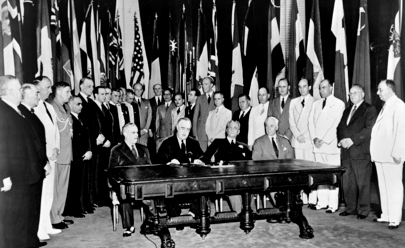 United Nations Signing Resolution; accessed via Wikimedia Commons